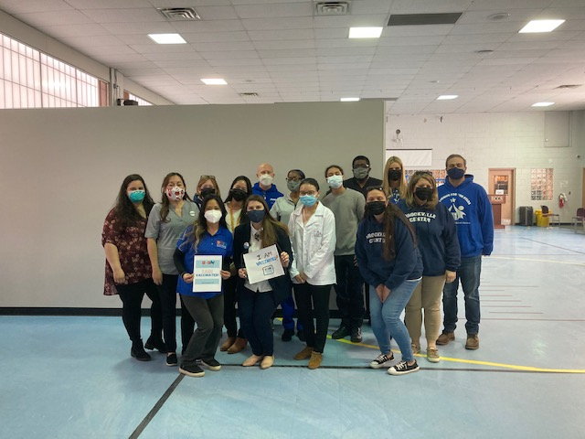 A huge thank you to our partners at CDNY, PHP, and Community Care RX for assisting to make this possible. We vaccinated 125 people we support and staff on Saturday 3/20/21! Great job everyone.